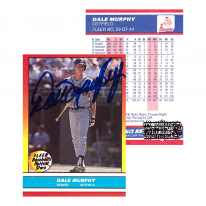 Dale Murphy Signed 1988 Fleer #29 Atlanta Braves Baseball Card-0