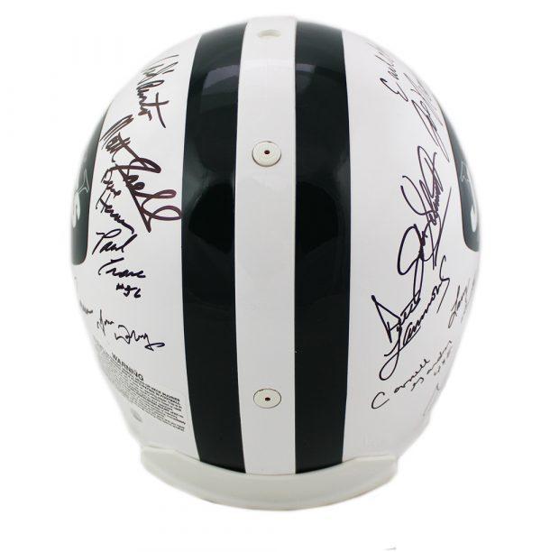 1969 New York Jets Multi-Signed NFL Riddell Authentic Helmet - 24 Signatures-17155