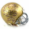 Rudy Ruettiger Signed Notre Dame Fighting Irish Riddell Authentic NCAA Helmet with Iconic Film Quote Inscription-0
