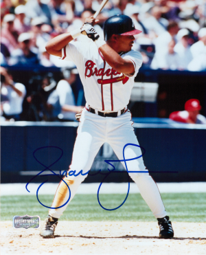 Andruw Jones Signed Atlanta Braves 8x10 MLB Photo - Batting-0