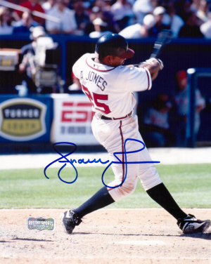 Andruw Jones Signed Atlanta Braves 8x10 MLB Photo - Swinging-0