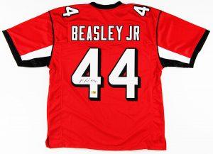 Vic Beasley Signed Atlanta Falcons Custom Red Jersey -0