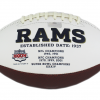 """Marshall Faulk Signed Los Angeles Rams NFL Embroidered Football with """"SB Champs"""" Inscription-19523"""