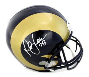 Marshall Faulk Signed St. Louis Rams NFL Riddell Full Size Helmet-0