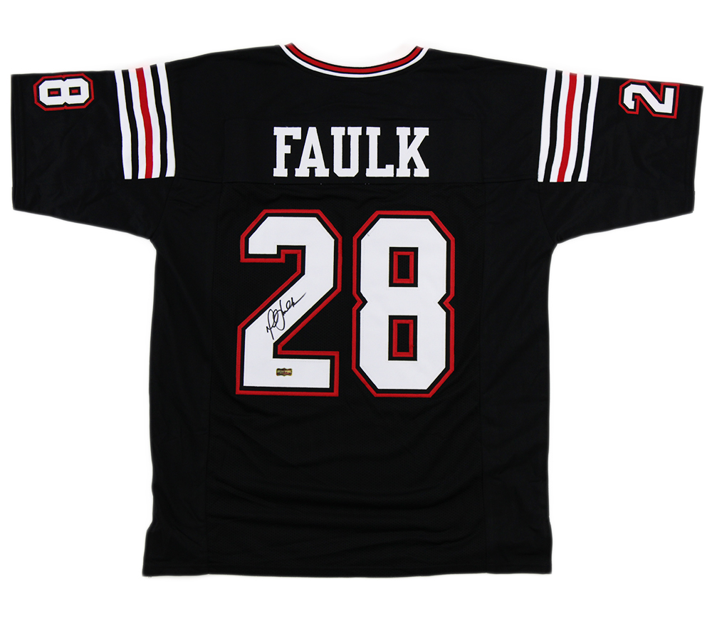 hot sale online 923b3 8e59e Marshall Faulk Signed San Diego State Custom Black Jersey