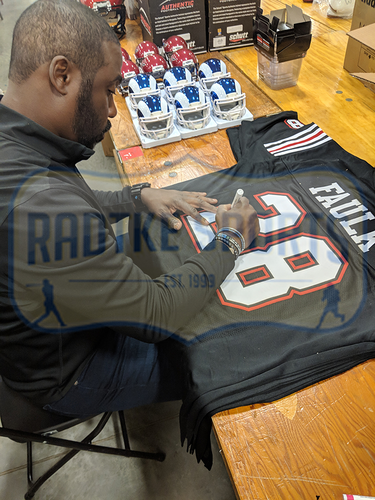 hot sale online a7851 60826 Marshall Faulk Signed San Diego State Custom Black Jersey