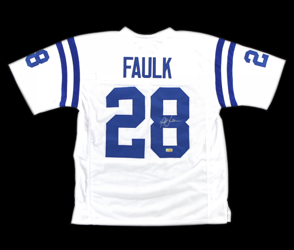 Marshall Faulk Signed Indianapolis Colts White Custom Jersey-0