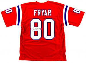 "Irving Fryar Signed New England Patriots Red Custom Jersey With ""5x Pro Bowl"" Inscription-0"