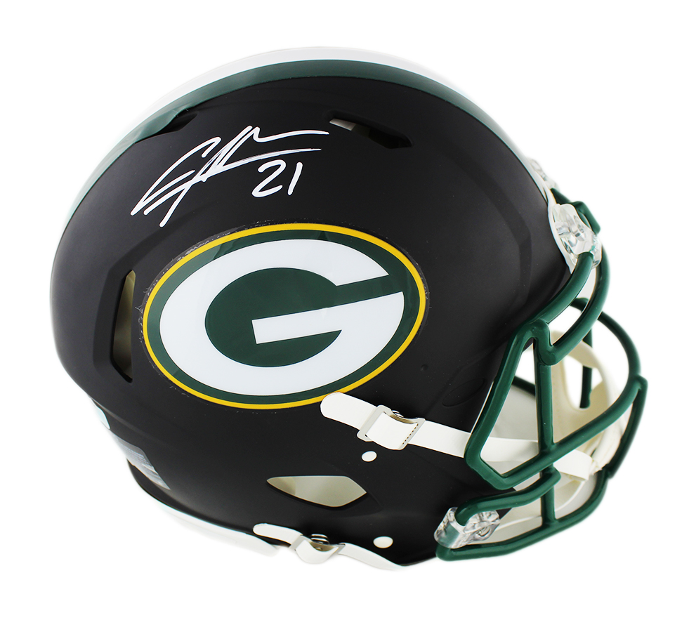 watch 13da1 1a44f Charles Woodson Signed Green Bay Packers Speed Authentic Black Matte NFL  Helmet