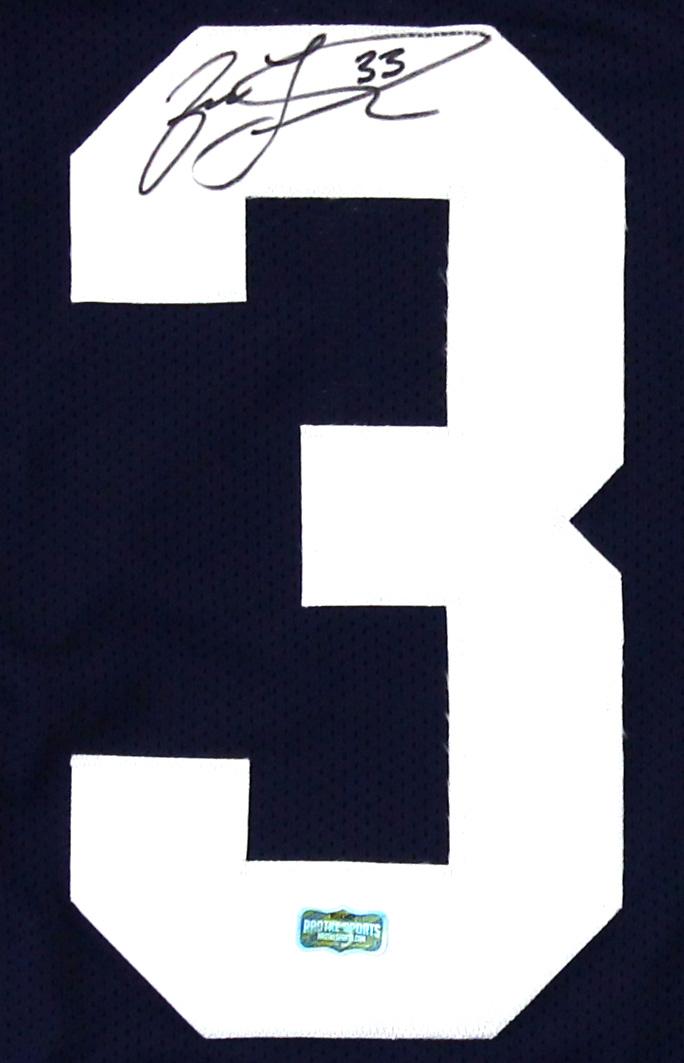 big sale 2d2d2 b14cf Jason Taylor Signed Akron Zips Custom Blue Jersey