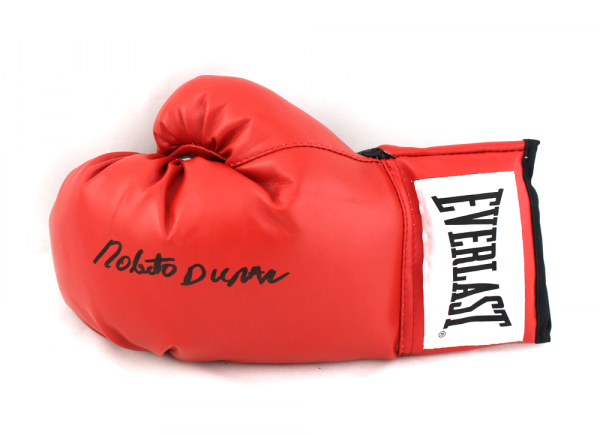 Roberto Durán Signed Red Everlast Boxing Glove -18224