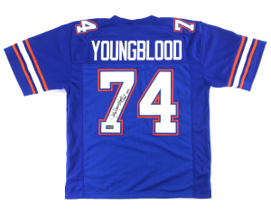 "Jack Youngblood Signed Florida Gators Blue Custom Jersey with ""CHOF 1992"" Inscription-0"