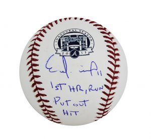"Ender Inciarte Signed Atlanta Braves SunTrust Official MLB Baseball With ""1st HR, Run, Put Out, Hit"" Inscription-0"
