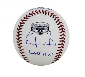 "Ender Inciarte Signed Atlanta Braves Turner Field Official MLB Baseball With ""Last Run"" Inscription-0"