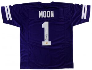ffd1286ea Warren Moon Signed Washington Huskies Purple Custom Jersey With