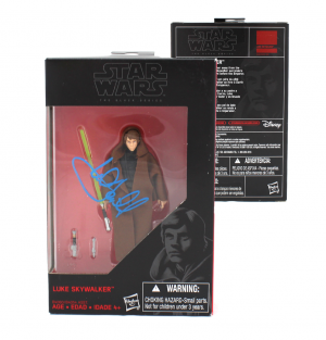 Mark Hamill Signed Hasbro Star Wars The Black Series Luke Skywalker Figure (Black Outfit) with Proof Picture-0