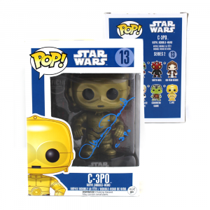 "Anthony Daniels Signed Funko Pop! Star Wars Series C3PO #13 with ""C3PO"" Inscription-0"