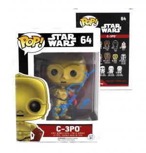 "Anthony Daniels Signed Funko Pop! Star Wars Series C3PO #64 with ""C3PO"" Inscription-0"