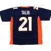 Aqib Talib Signed Denver Broncos Blue Custom Jersey-0