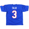Aqib Talib Signed NCAA University of Kansas Jayhawks Blue Custom Jersey-0