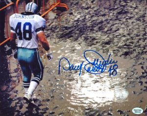 Daryl Johnston Signed Dallas Cowboys 8x10 Photo Mudhole-0