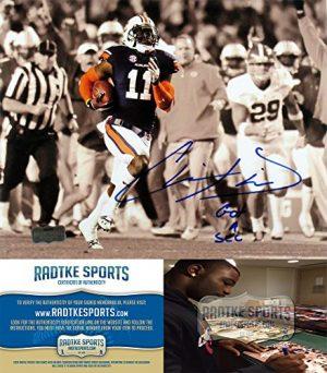 "Chris Davis Autographed/Signed Auburn Tigers 8x10 NCAA Photo with ""Got a Sec"" Inscription-0"