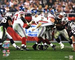 Eli Manning Autographed/Signed New York Giants Iconic Super Bowl XVII 16x20 NFL Action Photo - Steiner-0