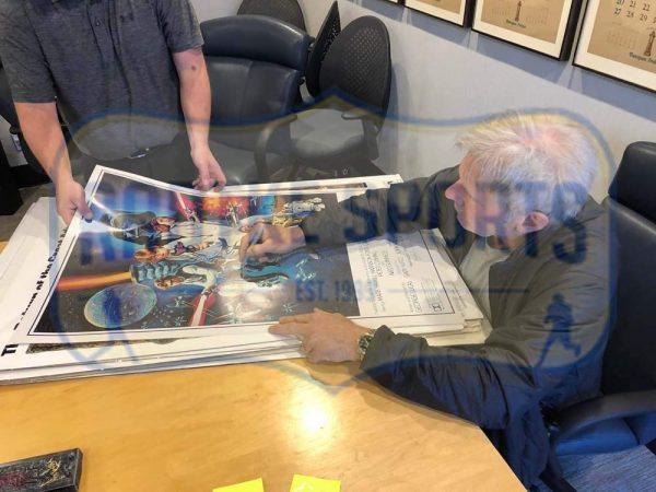 Harrison Ford Signed Star Wars Episode IV A New Hope 22x34 White Framed Movie Poster-32684