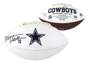 Darren Woodson Signed NFL Dallas Cowboys Embroidered Football-0