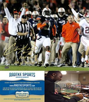Chris Davis Jr Autographed/Signed Auburn Tigers 16x20 NCAA Photo with quotKick Six - 109 Yd Return TDquot Inscription-0