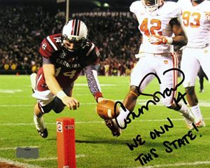 Connor Shaw Autographed/Signed South Carolina Gamecocks 8x10 NCAA Photo with We Own This State Inscription-0