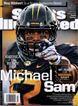 Michael Sam Autographed/Signed Sports Illustrated Magazine Full Edition No Label-0