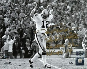 Ken Stabler Autographed/Signed Oakland Raiders 8x10 NFL Photo Super Bowl XI Limited Edition of 12-0