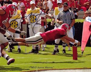 Aaron Murray Autographed/Signed Georgia Bulldogs 8X10 Photo MVP Aaron Murray-0