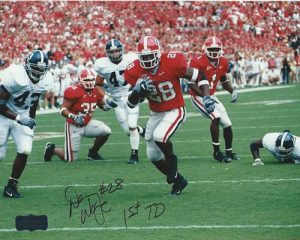 Danny Ware Autographed/Signed Classic Georgia Bulldogs 8x10 NCAA Photo 1st TD-0