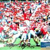 "Boss Bailey Autographed/Signed Georgia Bulldogs 11x14 NCAA Photo ""Jumping""-0"