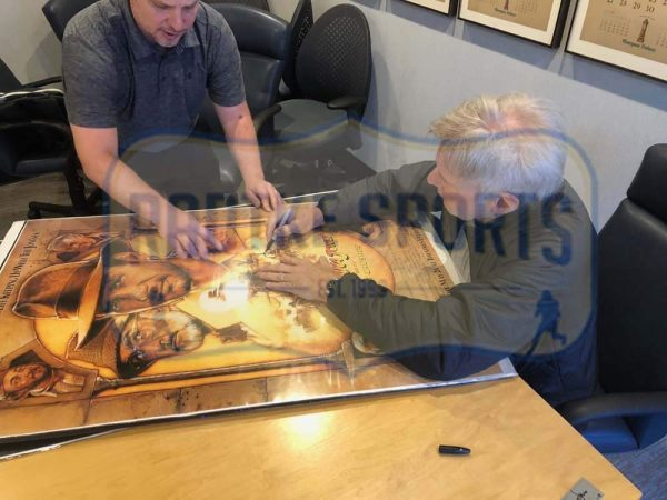 Harrison Ford Signed Indiana Jones The Last Crusade 27x40 Framed Movie Poster-32669