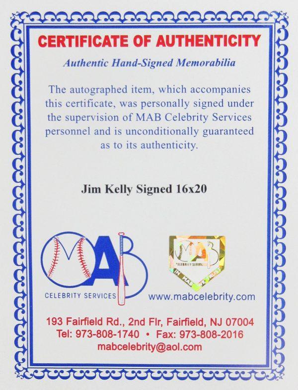 Jim Kelly Signed Buffalo Bills Framed 16x20 NFL Photo-20570