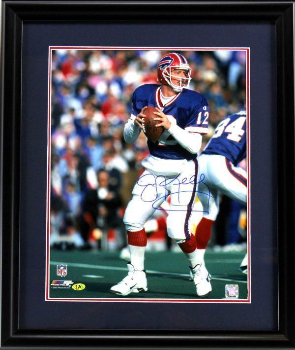 Jim Kelly Signed Buffalo Bills Framed 16x20 NFL Photo-0