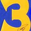 Steph Curry Signed Golden State Warriors Adidas Swingman Navy Blue NBA Jersey-19814