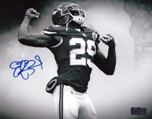Eric Berry Signed Kansas City Chiefs 8x10 NFL Photo - Smoke-0