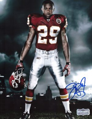 Eric Berry Signed Kansas City Chiefs 8x10 NFL Photo - Holding Helmet -0