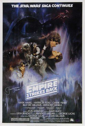 "Jeremy Bulloch ""Boba Fett"" Signed Star Wars Empire Strikes Back 24x36 Movie Poster - Alternate-0"
