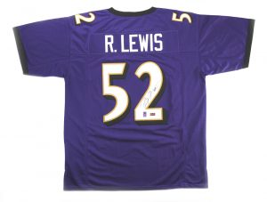 Ray Lewis Signed Baltimore Ravens Purple Custom Jersey-0