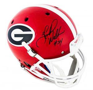a5193ac95 Herschel Walker Signed Georgia Bulldogs NCAA Schutt Full Size Helmet