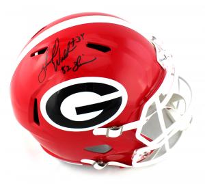 "Herschel Walker Signed Georgia Bulldogs NCAA Full Size Speed Helmet with ""82 Heisman"" Inscription-0"