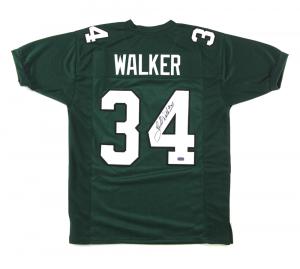 Herschel Walker Signed Philadelphia Eagles Green Custom Jersey-0