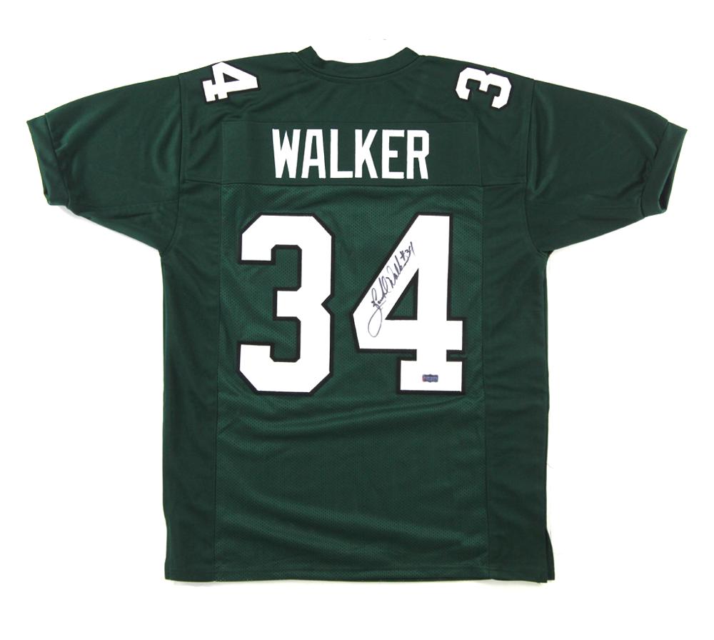 new product 3506c 9a179 Herschel Walker Signed Philadelphia Eagles Green Custom Jersey