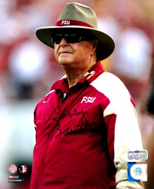 Bobby Bowden Signed Florida State Seminoles 8x10 NCAA Photo - Color in Straw Hat -0