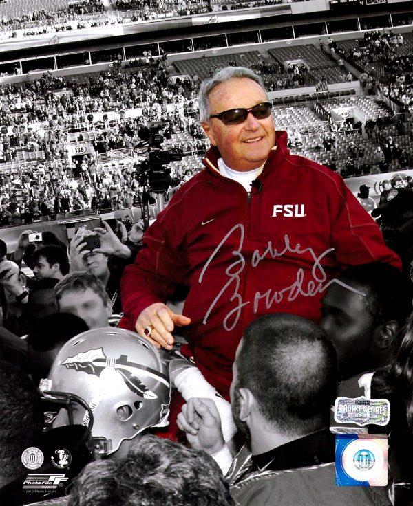Bobby Bowden Signed Florida State University 8x10 NCAA Photo - Spotlight -0